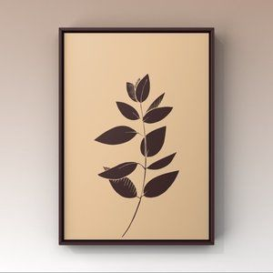 Modern minimalist leave abstract wall art